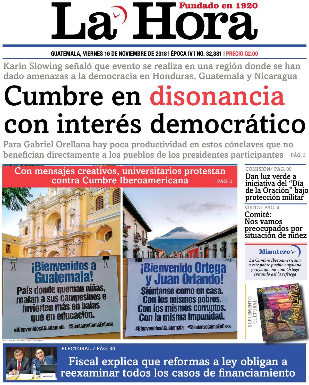 5bfa92ec7902a La Hora 16-11-2018 by La Hora - issuu