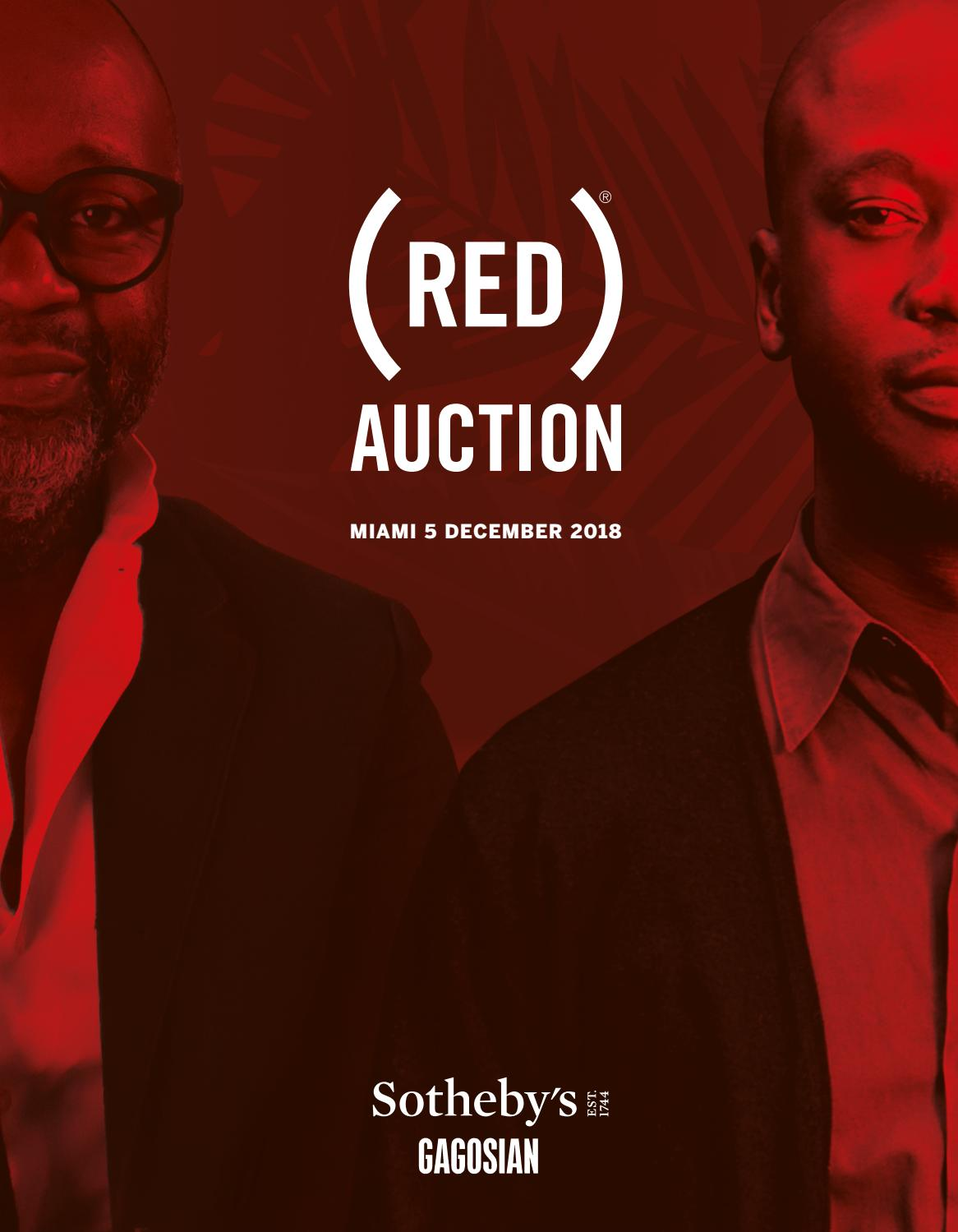 5cab02dfce RED) Auction Catalogue 2018 by Gagosian Quarterly - issuu