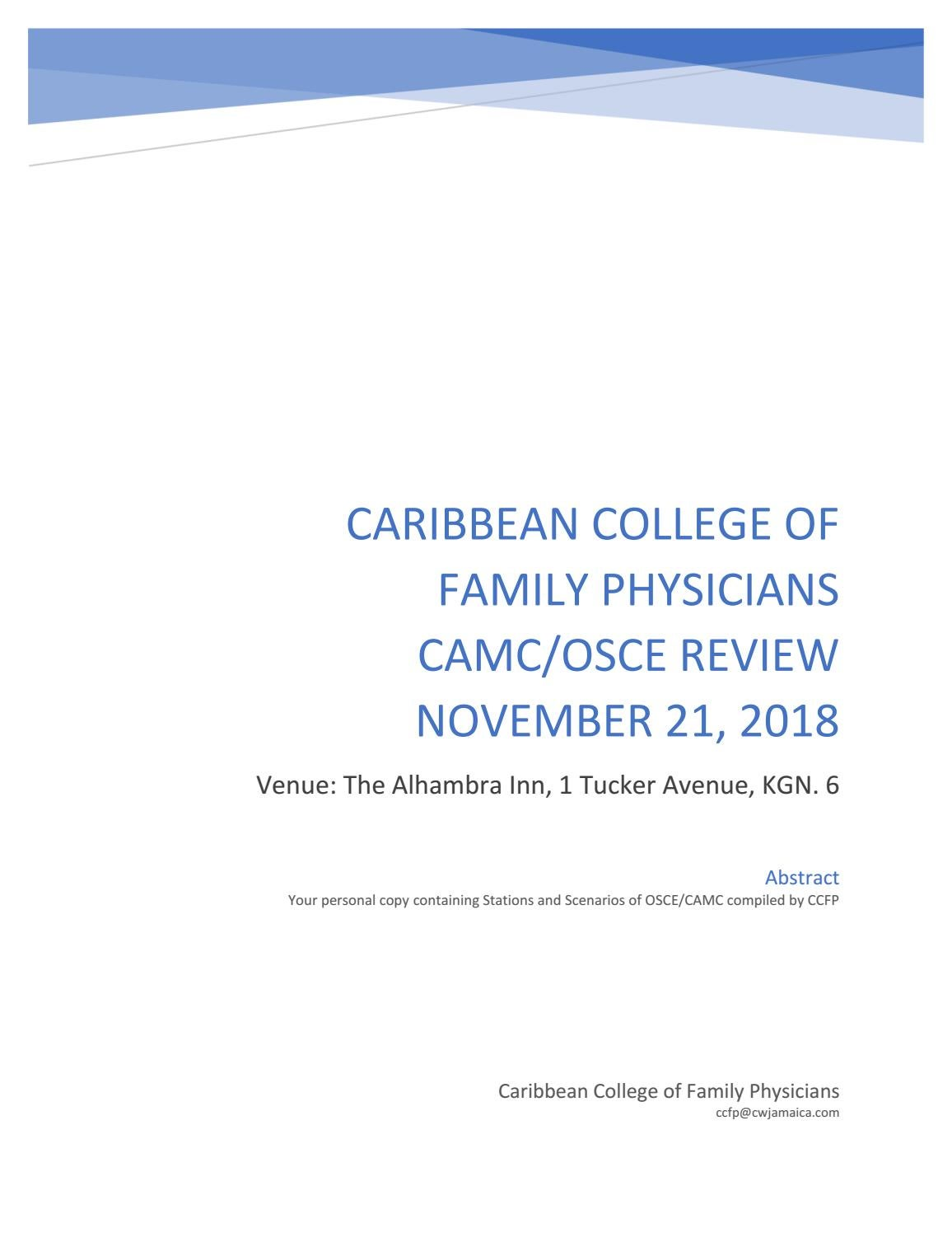 CAMC OSCE REVIEW STATIONS By Cwjamaica3 Issuu
