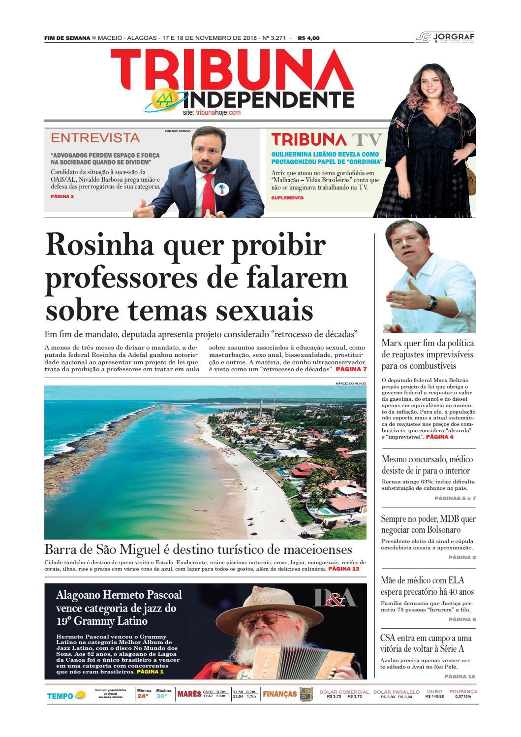 Edição número 3271 - 17 e 18 de novembro de 2018 by Tribuna Hoje - issuu 6415d6712c