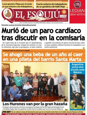 950d2b7e7 El Esquiu.com, sábado 17 de noviembre de 2018 by Editorial El Esquiú ...