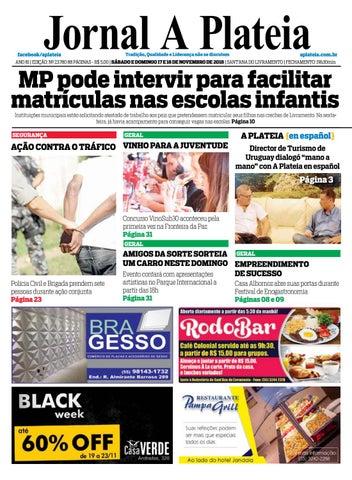 Jornal A Plateia - 17 Novembro by Jornal A Plateia Livramento - issuu cb7db5e9be
