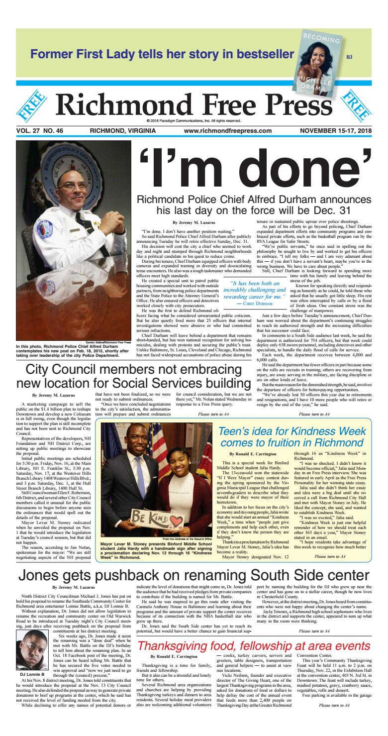 Richmond Free Press November 15-17, 2018 Edition by Richmond