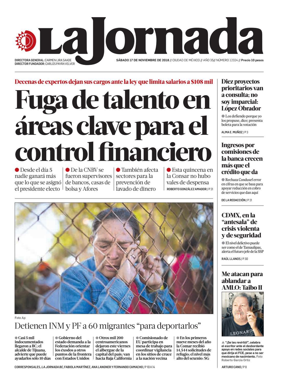 Amables Antes La Vecina la jornada, 11/17/2018la jornada - issuu