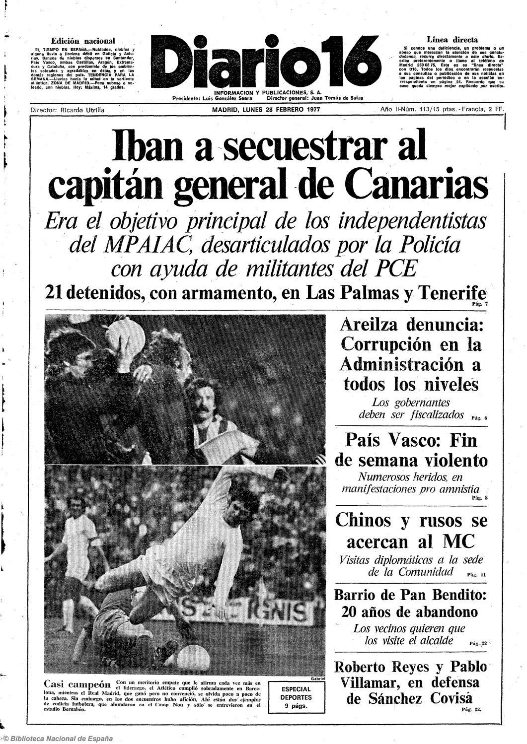 Diario 16. 28-2-1977 by diario16deburgos - issuu d5d427b1cfb