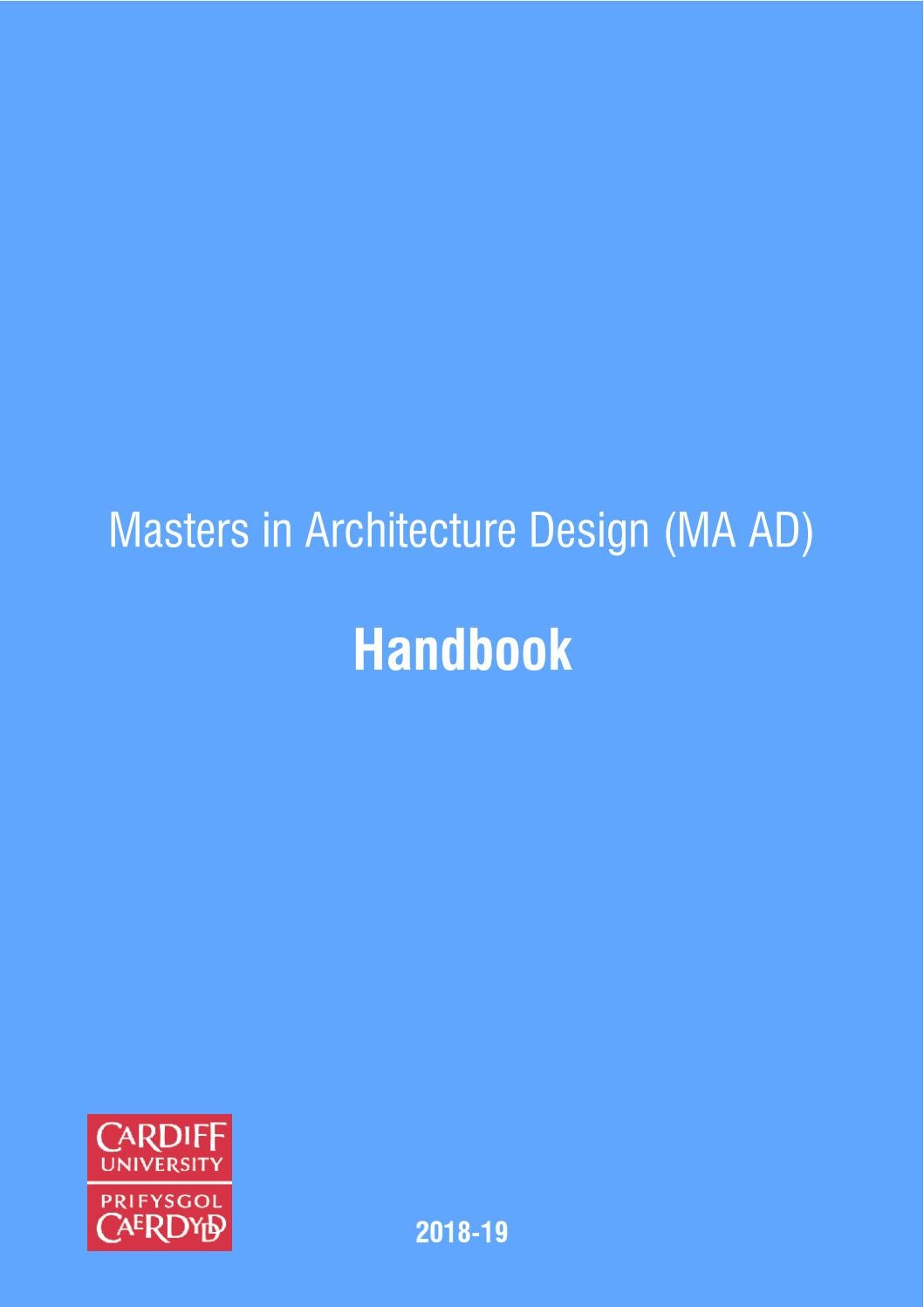 Welsh School of Architecture (WSA)  Masters in Architecture