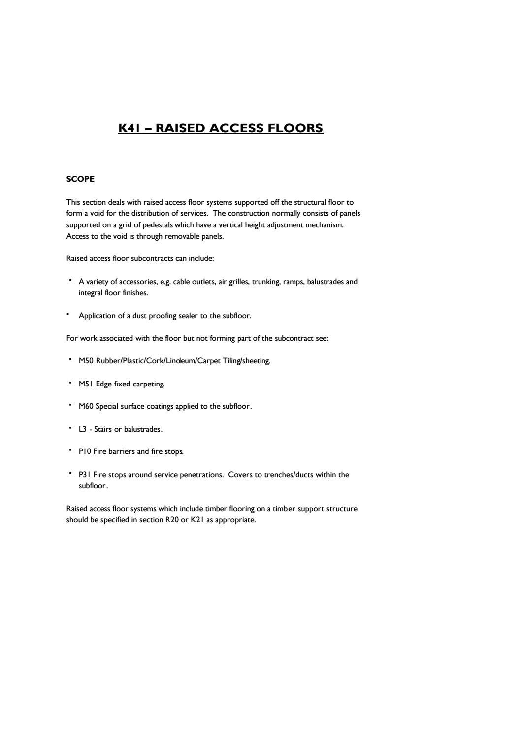 Access Flooring K41 Explained By Access Flooring