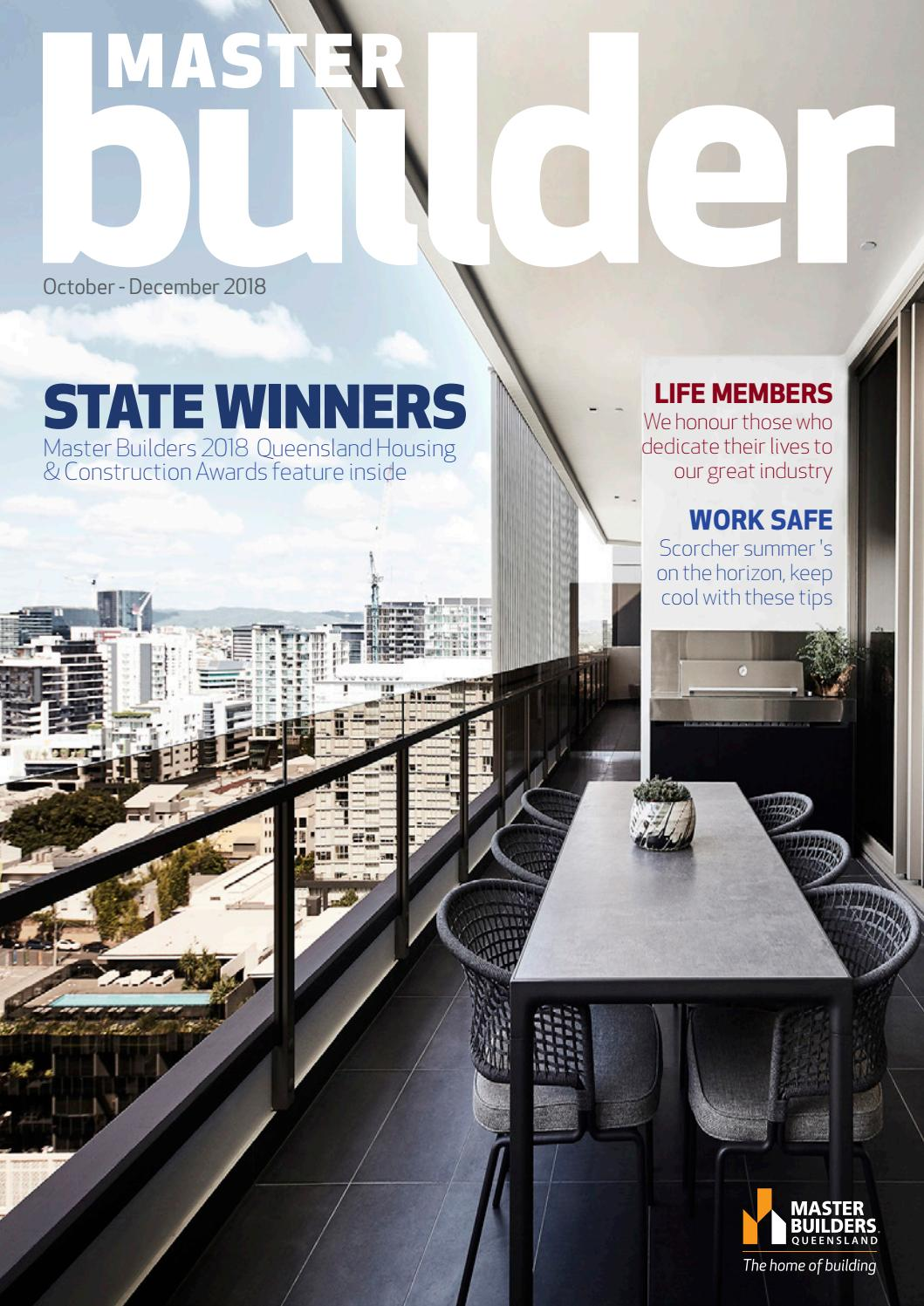 Master Builders magazine - October - December 2018 by Master