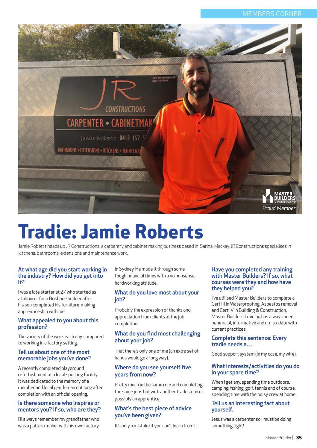 Master Builders magazine - October - December 2018 by Master
