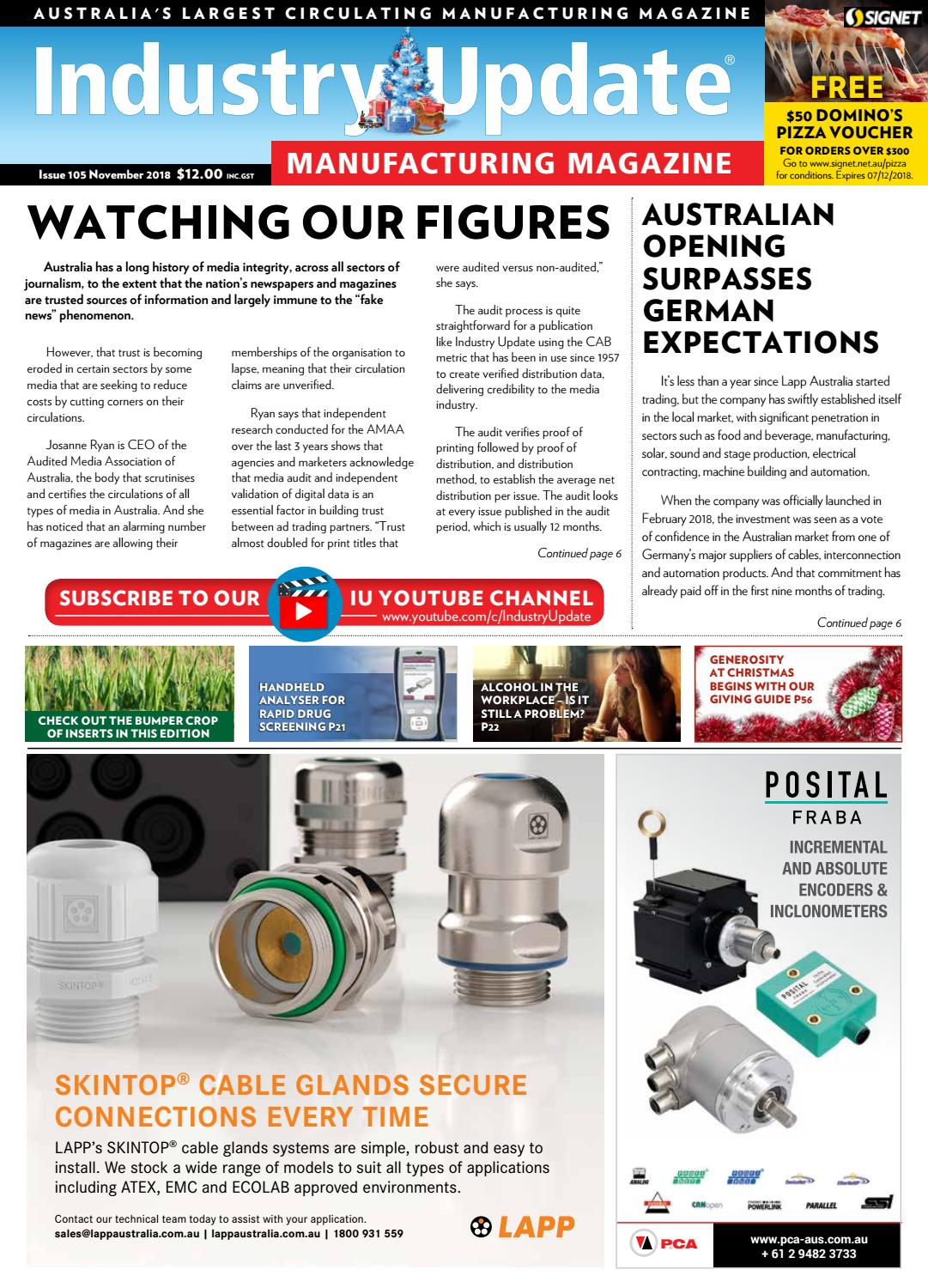 Industry Update Issue 105 November 2018 by Industry Update