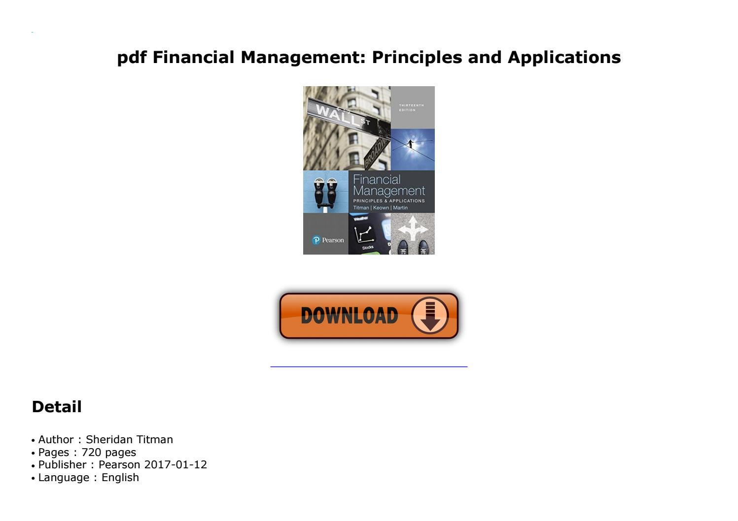 Keown Financial Management Pdf