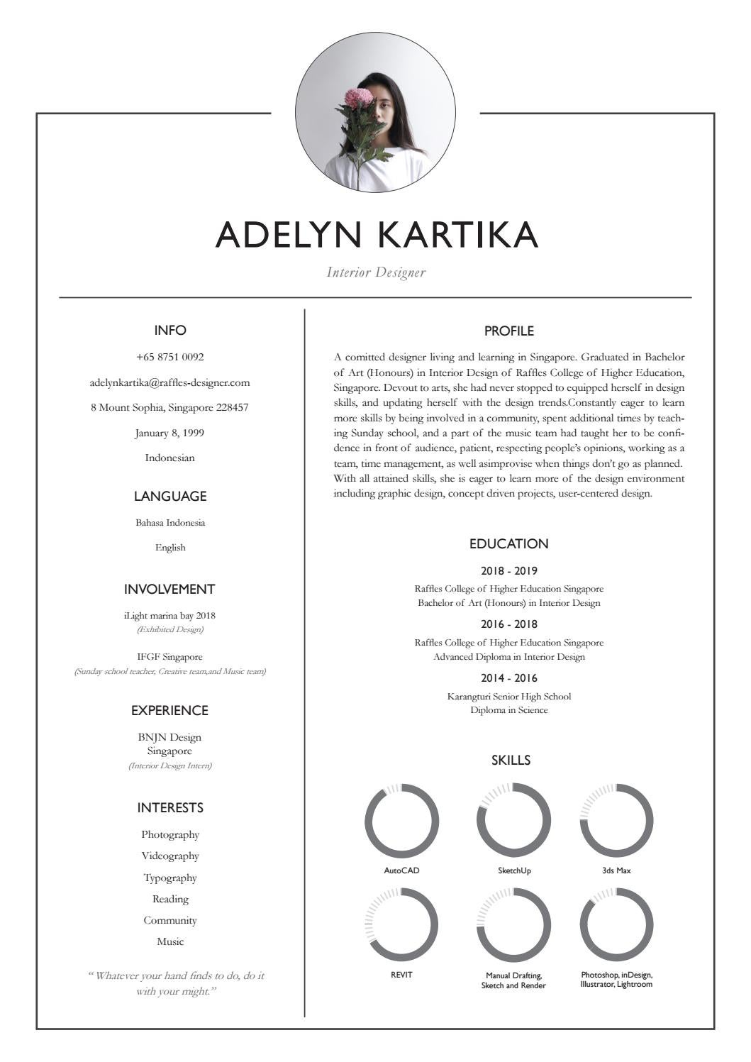 Creative Cv By Adelyn Kartika Issuu