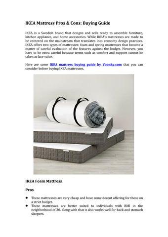 Ikea Mattress Pros Cons Ing Guide