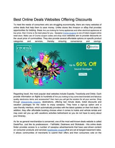 Best Deal Websites >> Best Online Deals Websites Offering Discounts By Saveplus19