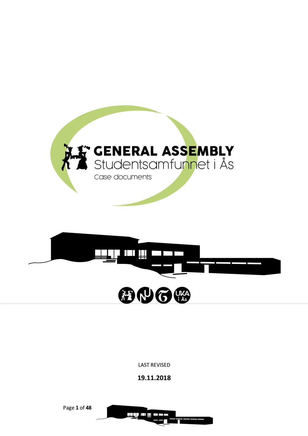 General Assembly Fall 2018 by Studentsamfunnet i Ås - issuu