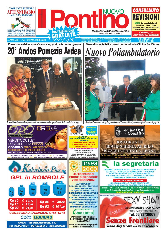 IL PONTINO NUOVO - Anno XXXIII - N. 20 - 16 30 Novembre 2018 by Il  Pontino Il Litorale - issuu efa726ea753a