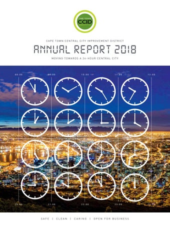 CCID 2018 Annual Report by Cape Town Central City Improvement