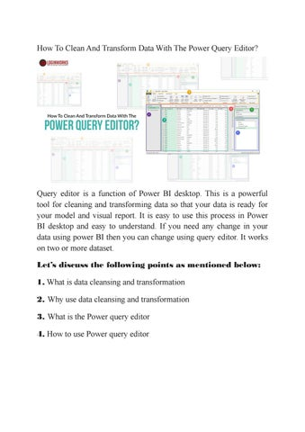 How To Clean And Transform Data With The Power Query Editor