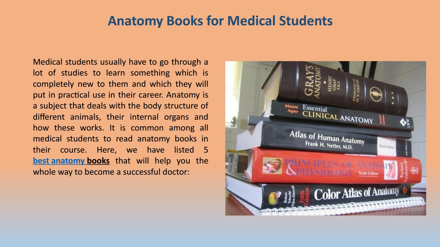 Buy Best Anatomy Books For Medical Students By Bookswagon Online
