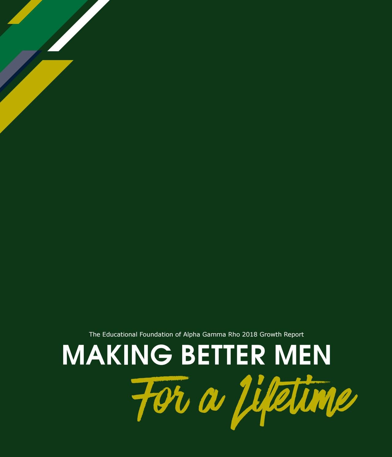 Making Better Men For A Lifetime by Alpha Gamma Rho - issuu