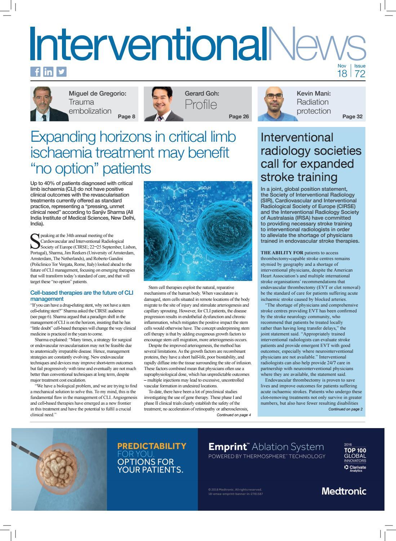 Interventional News Issue 72 - November 2018 by BIBA