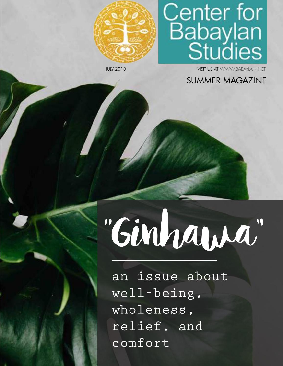 Center for Babaylan Studies   Summer 2018 Magazine by