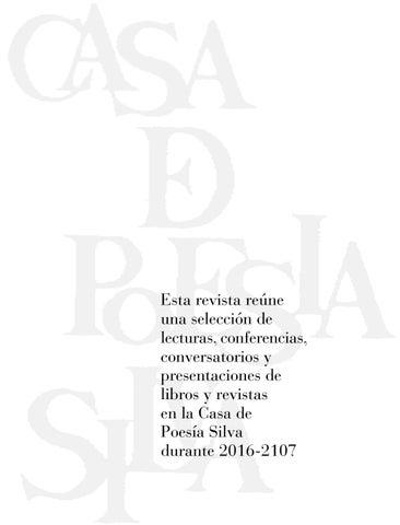 Revista Casa Silva Nos. 31 - 31 by Casa de Poesía Silva - issuu ef074bde55f6