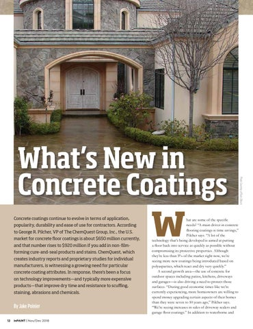 Page 12 of What's New in Concrete Coatings