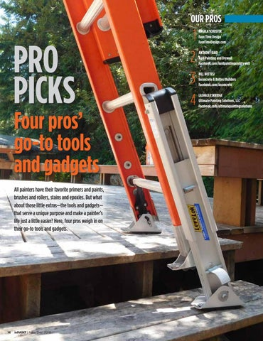Page 16 of Pro Picks: Four pros' go-to tools and gadgets