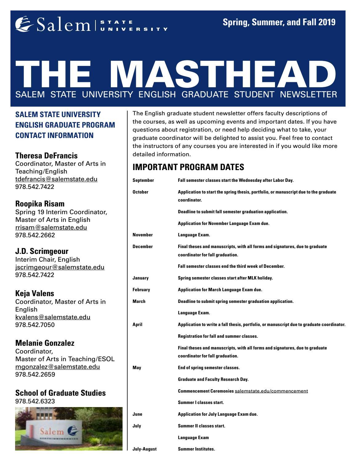 The Masthead by Salem State University - issuu