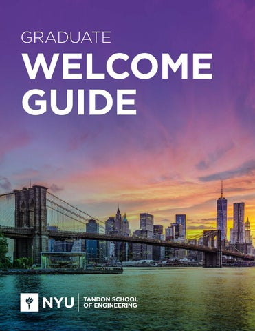NYU Tandon Graduate Welcome Guide by Spark451 - issuu