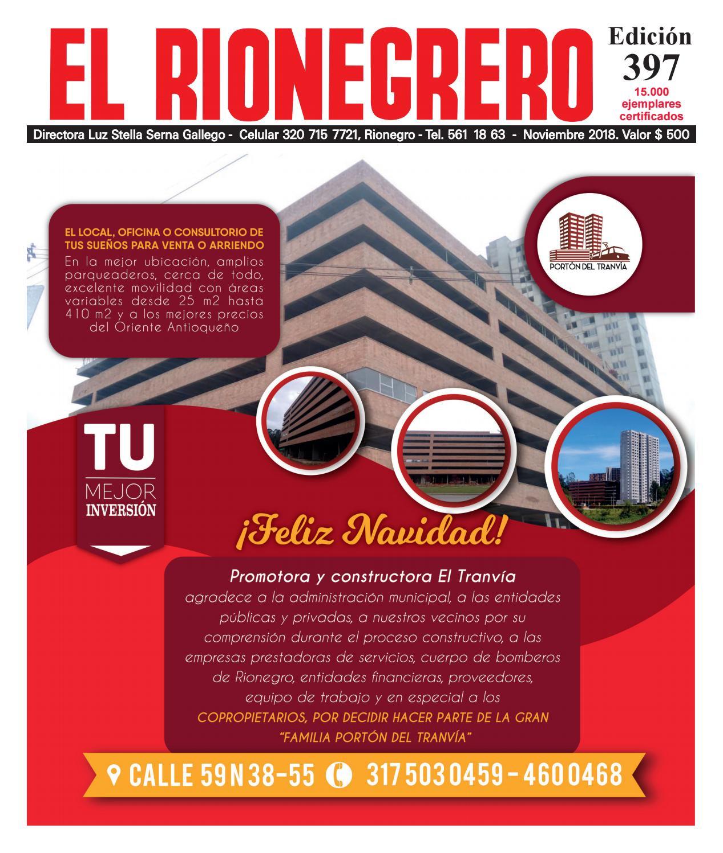 d3b502fbf85 PDF EL RIONEGRERO edición 397 noviembre 2018 by Periódico EL RIONEGRERO -  issuu