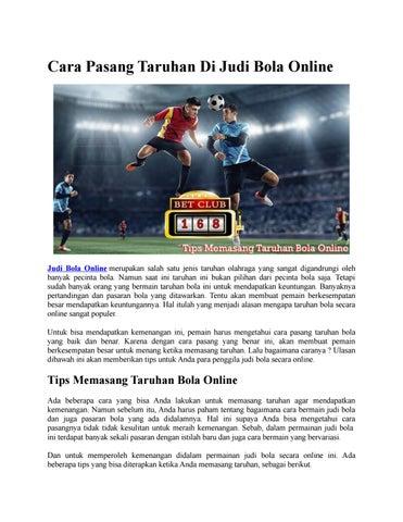Cara Pasang Taruhan Di Judi Bola Online By Judi Bola Depo Murah Issuu