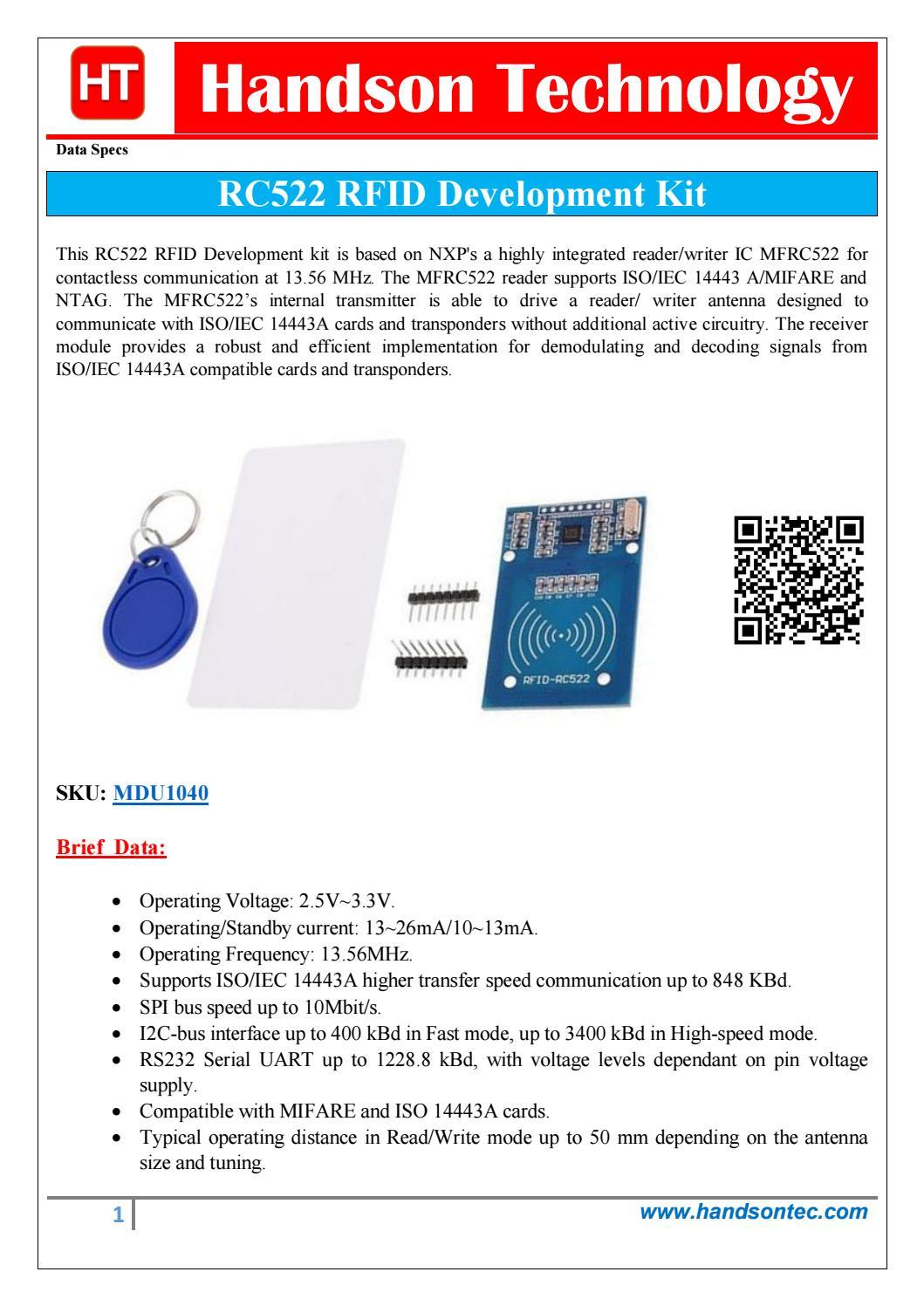 RC522 RFID Development Kit by Lee Yuan - issuu
