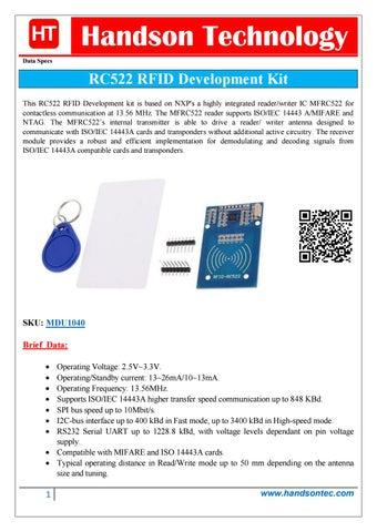 RC522 RFID Development Kit