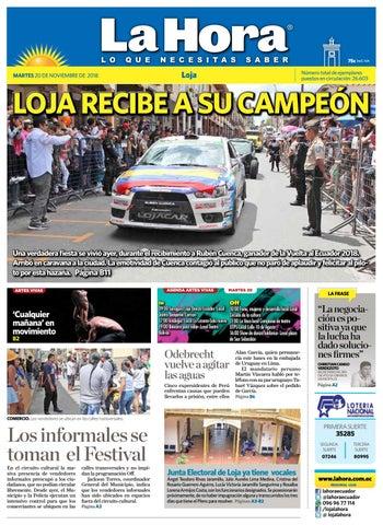 2d0eb21c2 Diario La Hora Loja 20 de Noviembre 2018 by Diario La Hora Ecuador ...