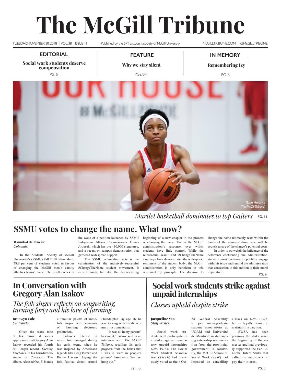 McGill Tribune Vol  38 Issue 11 by The McGill Tribune - issuu