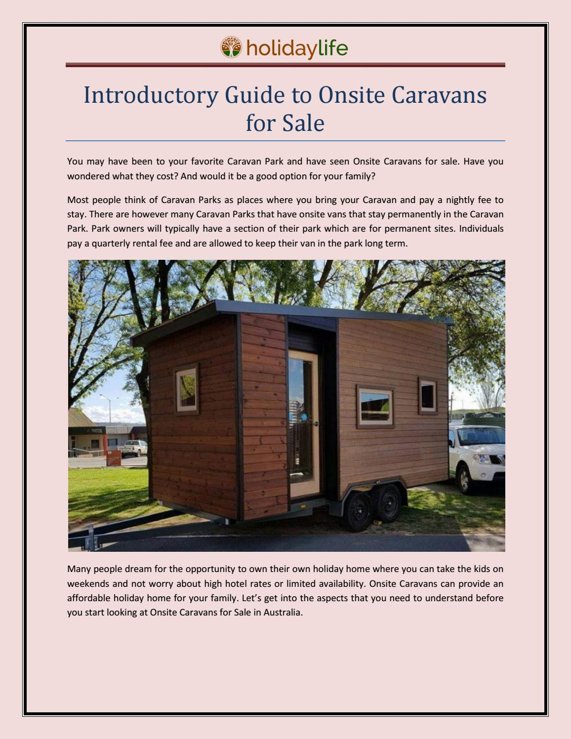 Onsite Caravans For Sale | Holidaylife by holidaylife - issuu