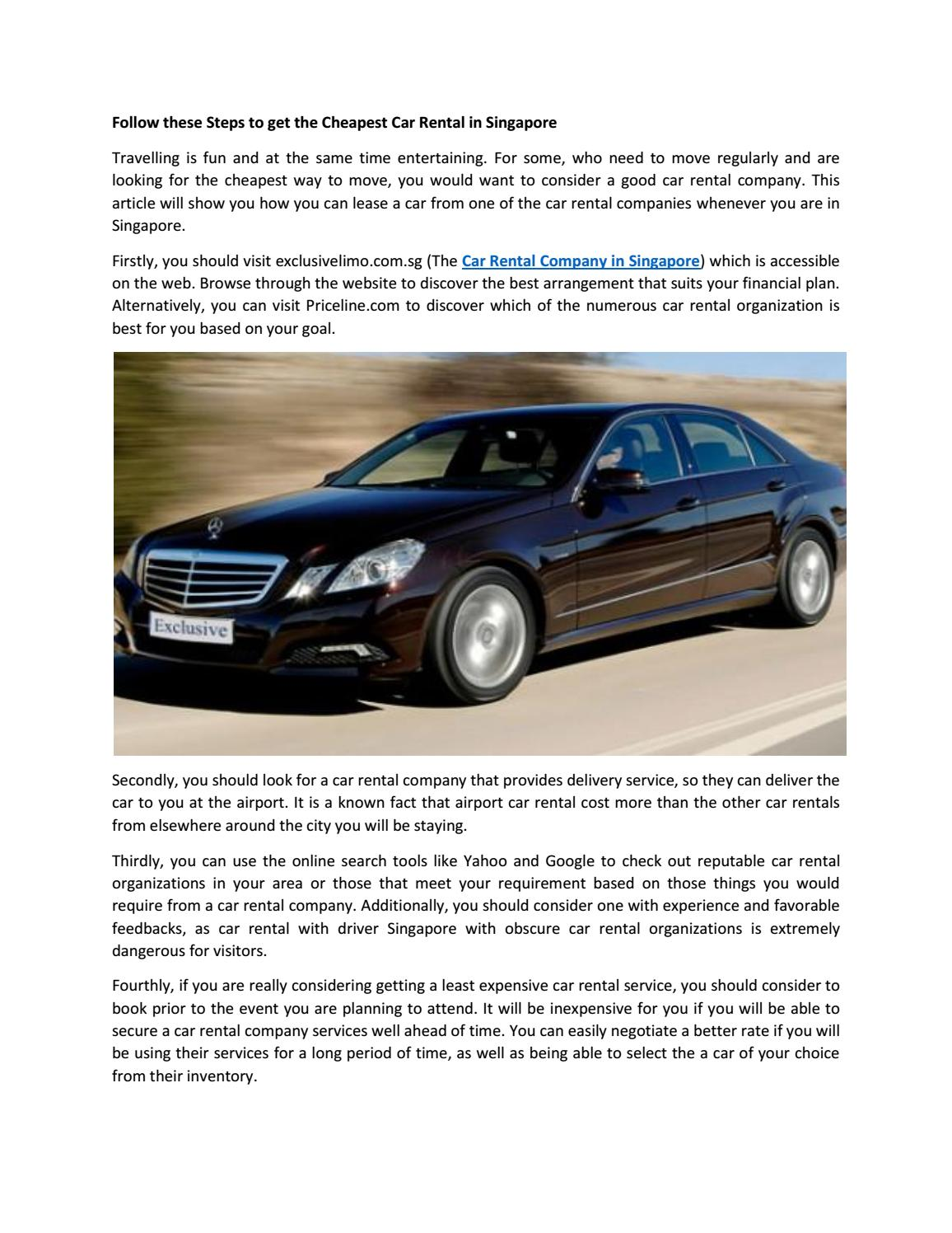 Cheapest Cars To Lease >> Cheapest Car Lease Singapore By Exclusive Limo Issuu