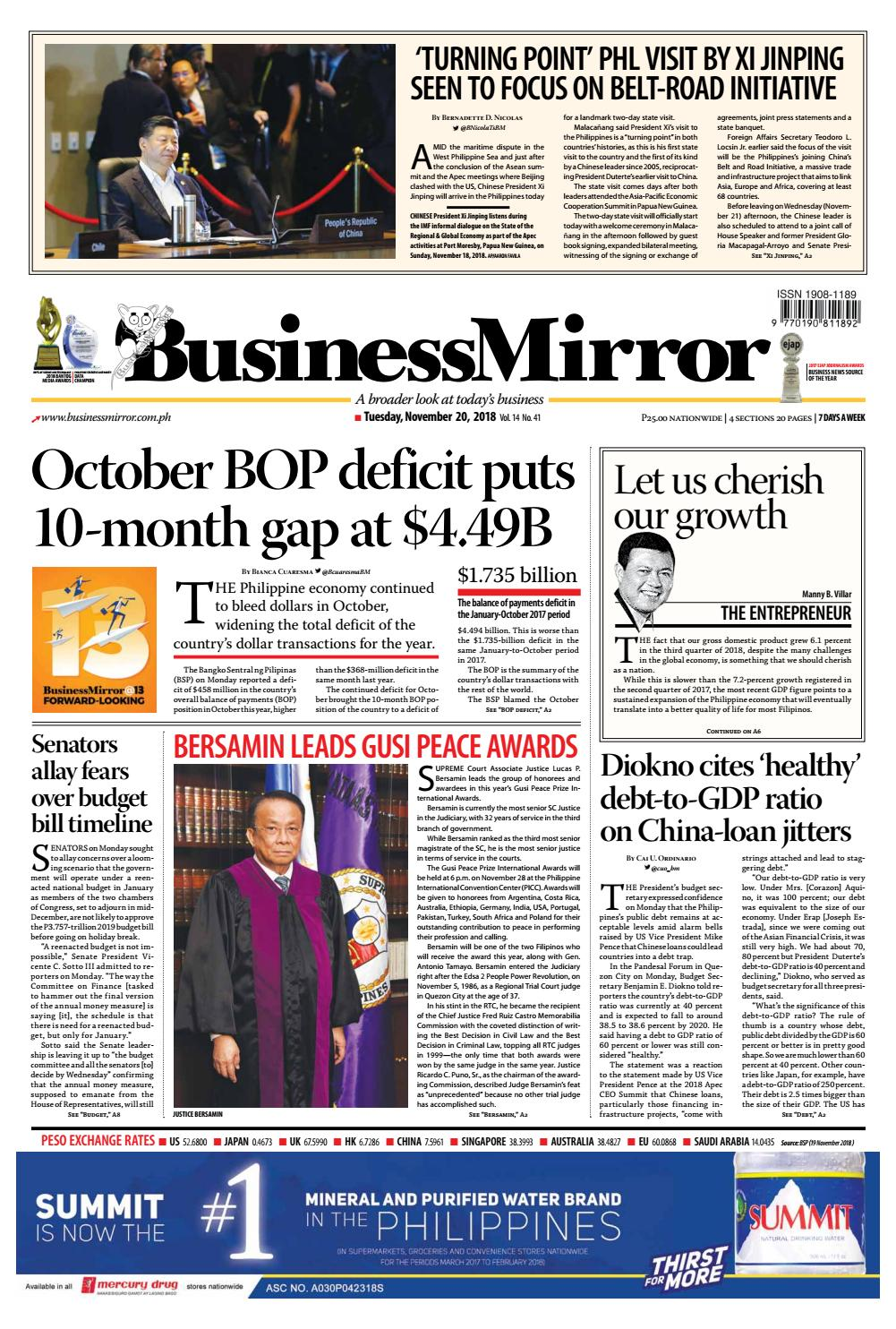 92f0ccbe4 BusinessMirror November 20, 2018 by BusinessMirror - issuu