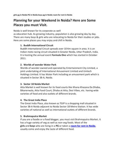 Planning for your Weekend in Noida? Here are Some Places you