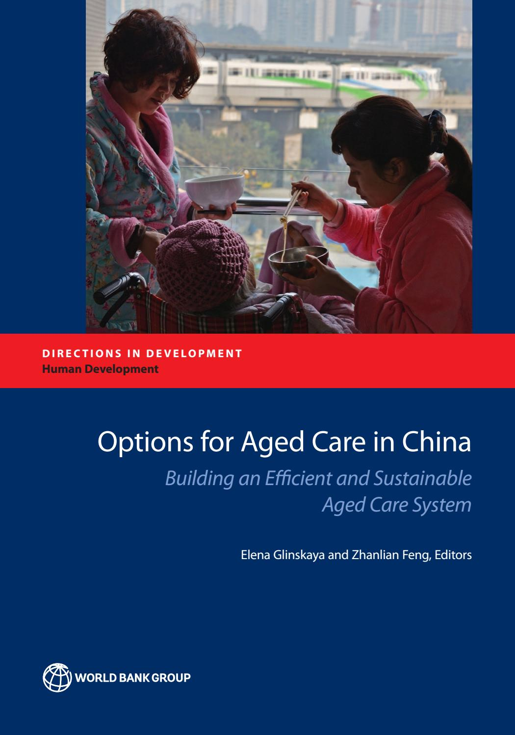 Options for Aged Care in China by World Bank Group