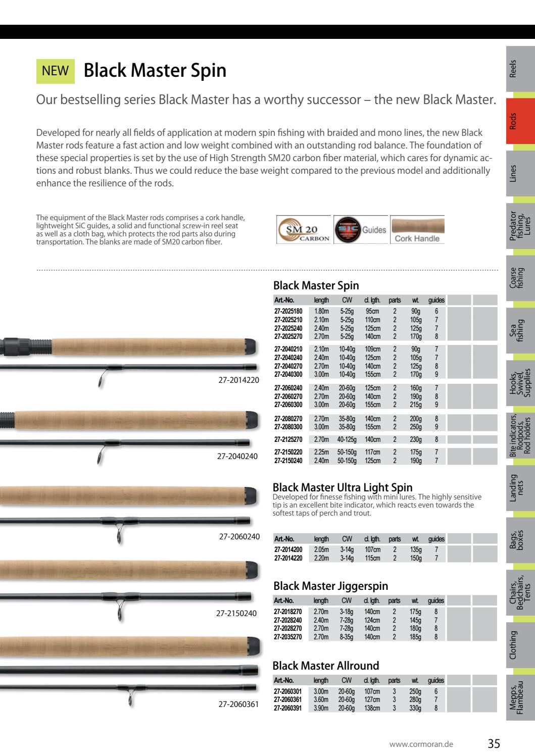 Cormoran Black Master Spin 2.70m 20-60g
