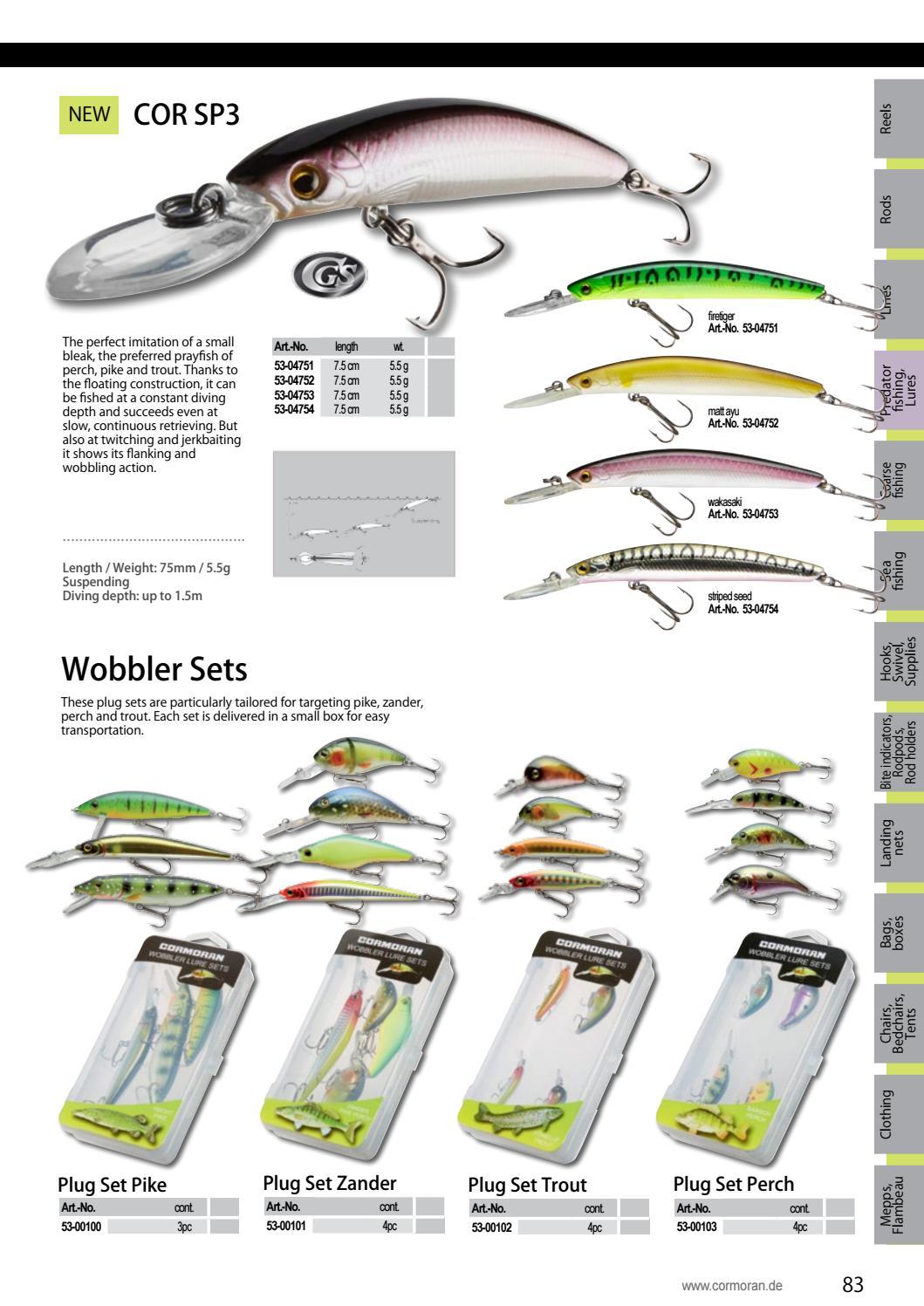 53-00101 Cormoran Wobbler Set Zander