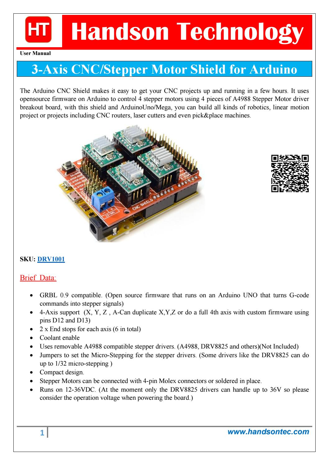 CNC 3-Axis Stepper Motor Shield by Lee Yuan - issuu