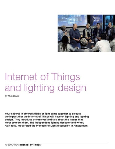 Page 40 of Internet of Things and lighting design