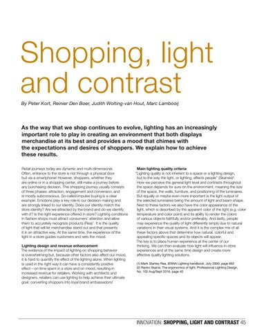 Page 45 of Shopping, light and contrast