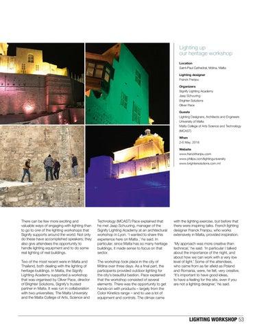 Page 53 of Lighting workshops