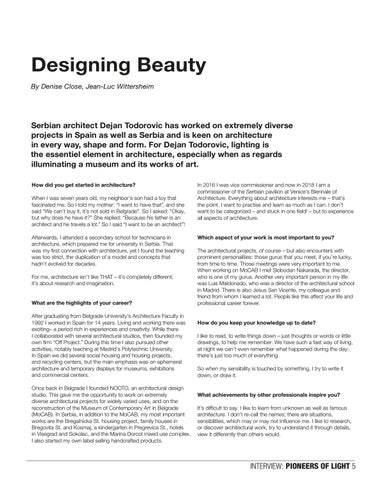 Page 5 of Dejan Todorovic, Architect, Pioneer of Light