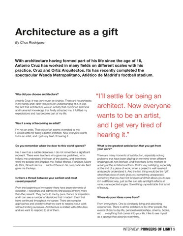 Page 9 of Antonio Cruz, Architect, Pioneer of Light